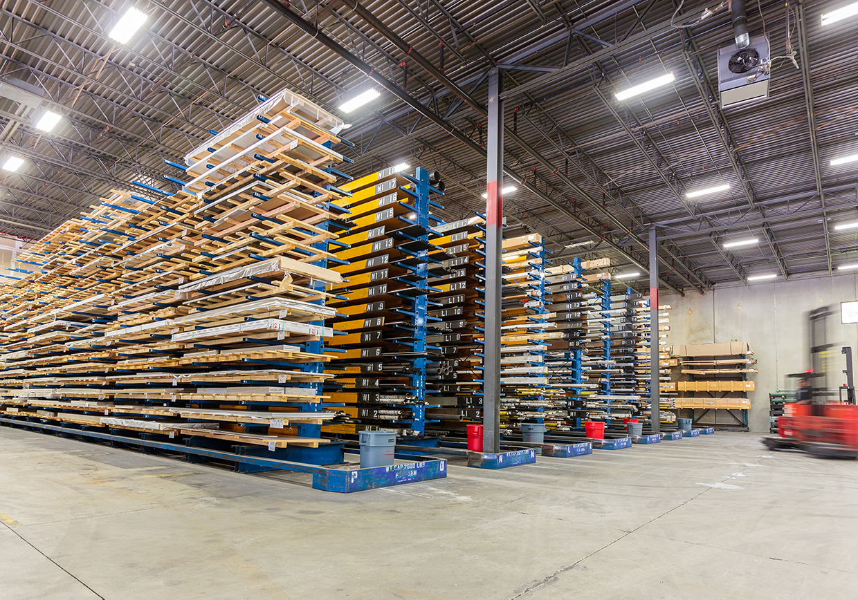 Cantilever Racking Elongated Materials Storage Sync